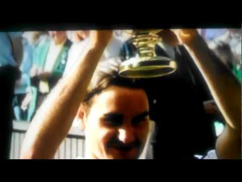 Roger Federer  is named the top tennis player ever by his peers like Agassi, Sampras. ect...