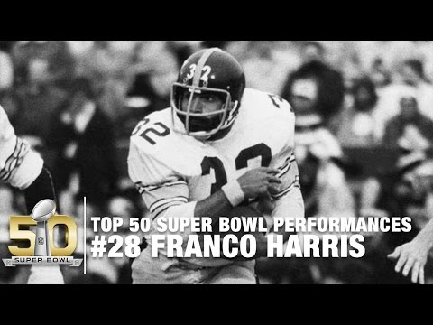 #28: Franco Harris Super Bowl IX Highlights | Top 50 Super Bowl Performances
