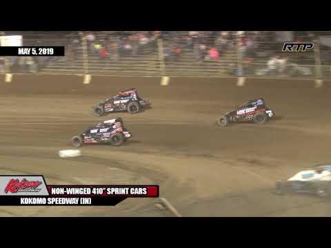 "2019 ""King of Kokomo"" At Kokomo Speedway- Sprint Cars - Feature Event - (HIGHLIGHTS)"