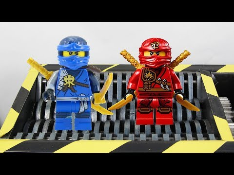 Experiment Shredding Lego Ninjago And Toys Huge Compilation | The Crusher