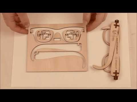 Laser Cut Wooden Hinged Glasses