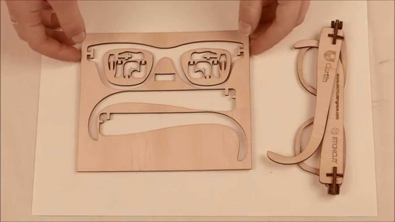 5e8115cac2 Laser Cut Wooden Hinged Glasses - YouTube