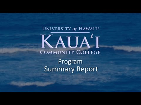 KauaiCC Rural Hawaii Grant - Project Summary