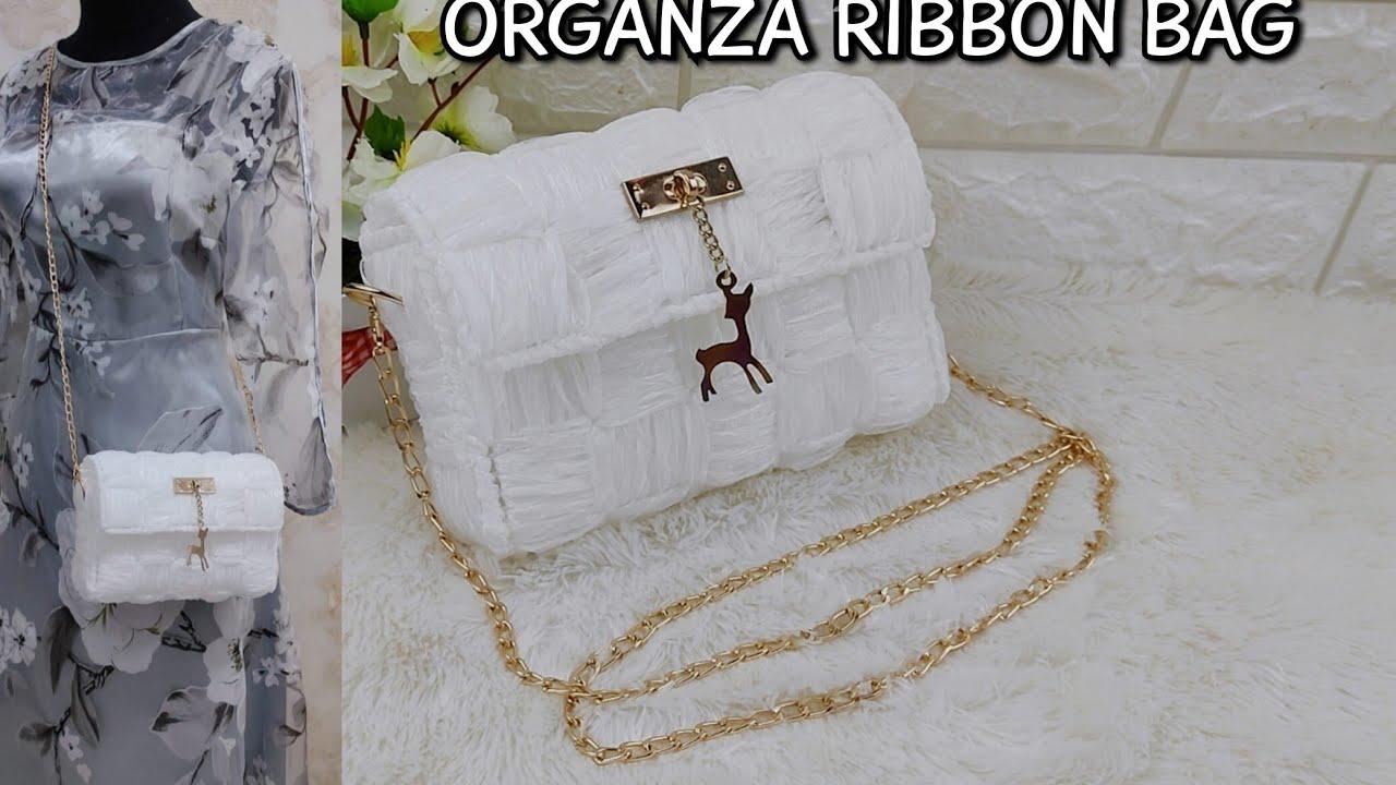 Dolce's - Ariel Handmade ribbon Bag + Tutorial (+feedback) ✨🌼🌸 (雪纱包包 tutorial but English🤡)