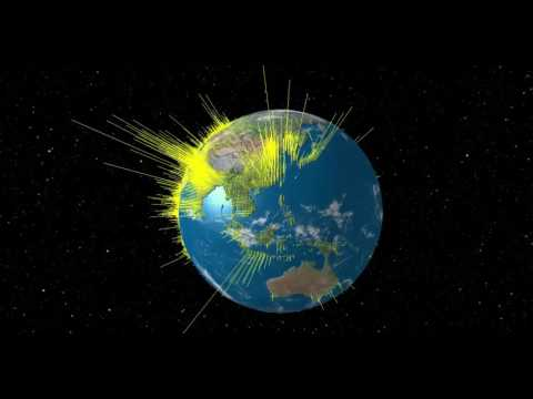 3D Globe of World Population Density