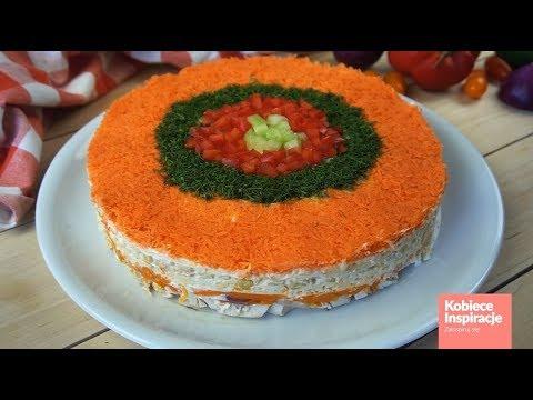 Salatka Fantazja Tort Salatkowy Youtube