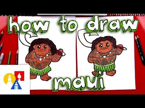 How To Draw Cartoon Maui From Moana