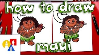 How To Draw Cartoon Maui From Moana