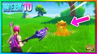 Search Between a Covered Bridge, Waterfall, and the 9th Green LOCATION Week 10 SEASON 5 in Fortnite