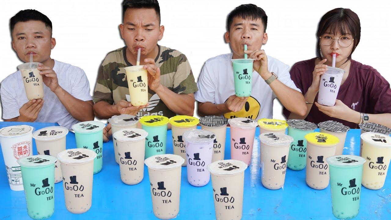 Hưng Troll   Thử Thách Người Cuối Cùng Ngừng Uống Trà Sữa Sẽ Thắng Nhận 5 Triệu - Phần 1