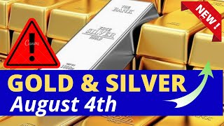 Gold and Silver Intraday Analysis for Wednesday August 4, 2021 by Nina Fx