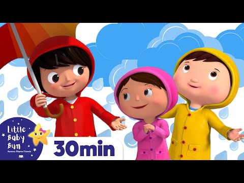Splashing in Puddles   +More Nursery Rhymes and Kids Songs - ABCs and 123s   Little Baby Bum