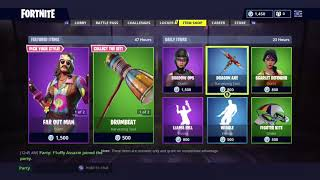 Fortnite *NEW* Far Out Man and Dreamflower Skin, Drumbeat harvesting tool and Tie-Dye Flyer Glider!!