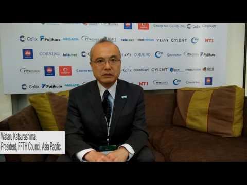 Wataru Katsurashima, President, FTTH Council Asia-Pacific, at the FTTH APAC conference 2017.