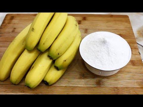 一把香蕉,一碗面粉,手不沾面,筷子一搅,营养又好吃,超简单!