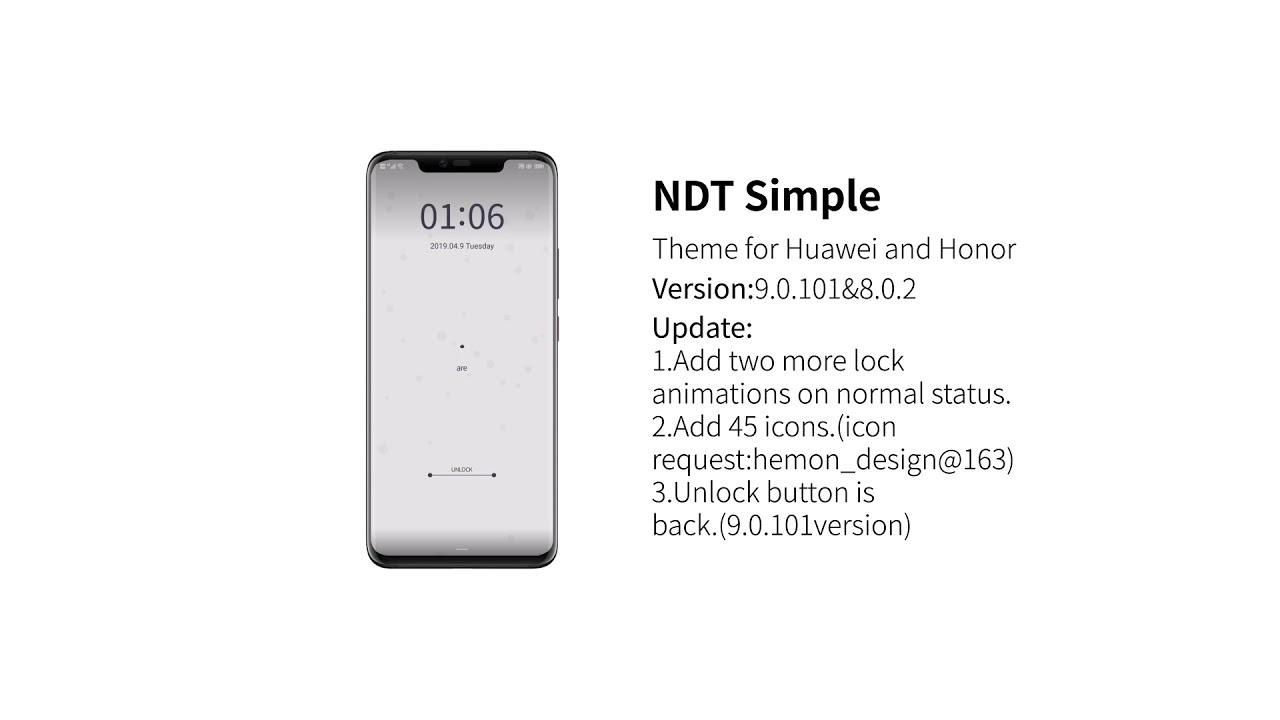 Huawei Theme NDT Simple Update - YouTube