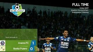 Arema FC Vs Barito Putera 1-0 - Full Highlight & Gol Liga 1 Indonesia 05/05/2017