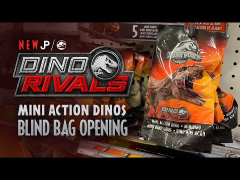 Lot of 6 Jurassic World Mini Action Dino Blind Bags Sealed NEW in bag