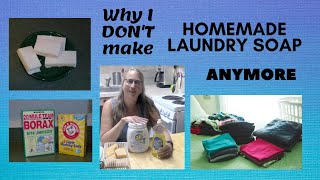Why I Don't make Homemade Laundry Soap Anymore