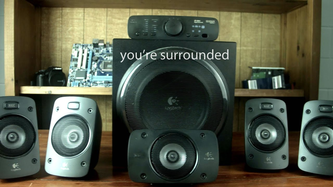 logitech z906 51 surround sound speakers amazoncom logitech z906 surround sound speakers