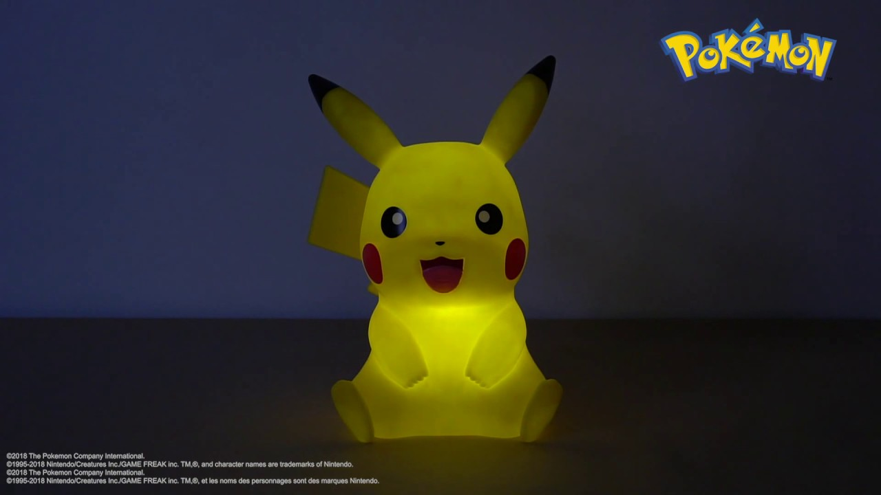 Lampe 40cm Télécommande Pokémon Led Teknofun Avec Pikachu WE2H9YID