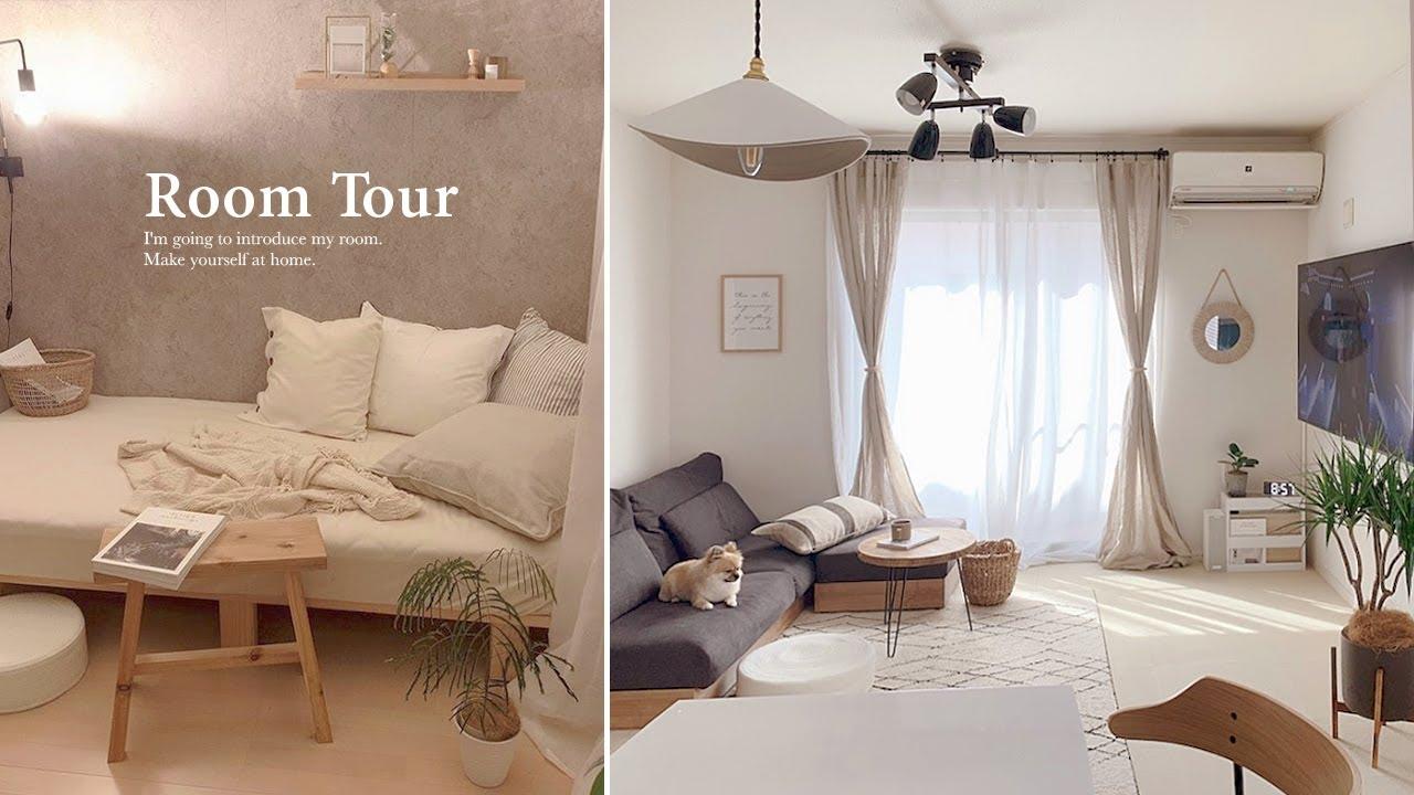 【ルームツアー】海外インテリアを参考にしたナチュラル×モノトーンのシンプルな部屋|4LDK|夫婦|犬のいる暮らし| 建売住宅|IKEA|Japaneseroom tour