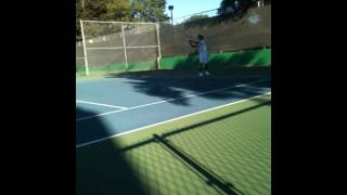 tennis warmup before match play