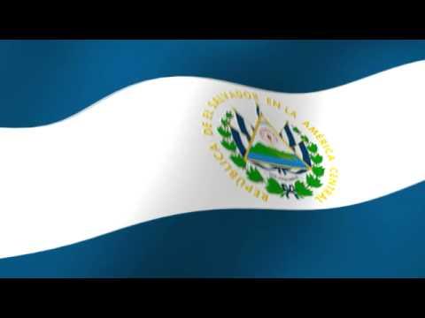 Flag Of El Salvador Bandera De El Salvador Youtube