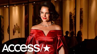 Katie Holmes Channels Old Hollywood Glamour In Stunning Red Dress