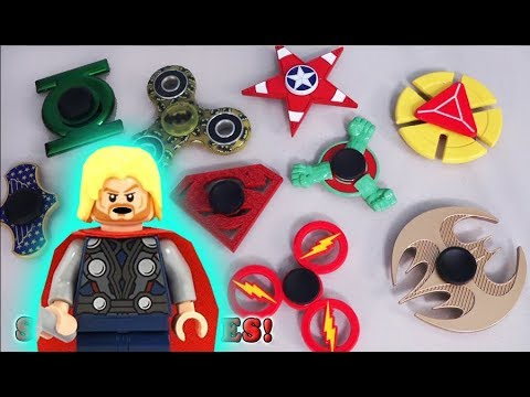 Fidget Spinners 💥 Thor Ragnarok Justice League 💥 Superhero Movie Pt 3 Review toys Marvel Tricks Hack