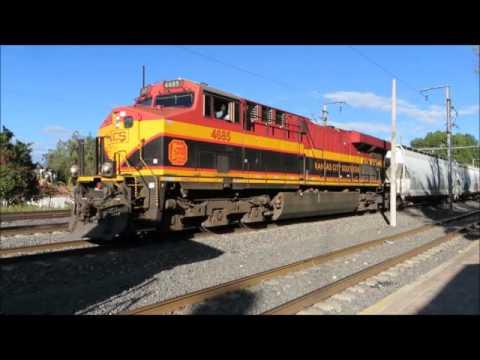 Trenes de Kansas City y Ferromex Aniversario Club Cafdiq, Queretaro 5 de Nov de 2016