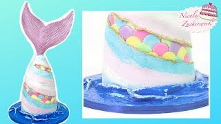 FAULT LINE-Meerjungfrauen-Torte 🧜♀️ I Meerjungfrauen-Schwanz-Torte I Mermaid Cake I Mermaid Tail
