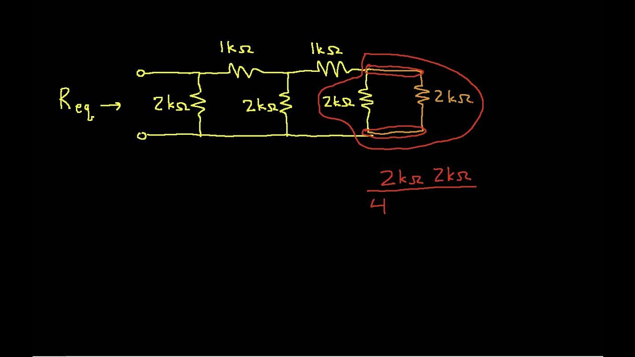 Equivalent Resistance Example Ladder Network Youtube We Want To Measure Below Is The Voltage Divider Circuit