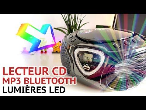 LECTEUR CD EFFET DISCO MP3 LAUSON RADIO USB PORTABLE LAUSON Boombox CP452 📀