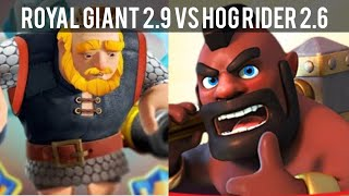 Clash Royale #74 [技巧] Royal Giant 2.9 cycle deck vs Hog Rider 2.6 cycle deck