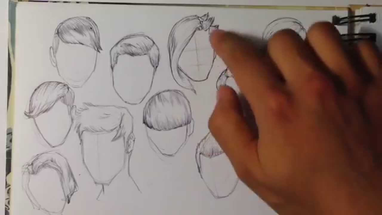 Tips On How To Draw Hair Easy Things To Draw Youtube