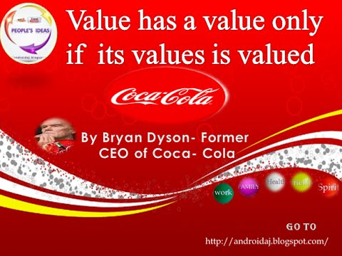 Speech by bryan dyson ceo of coca cola peter dyson