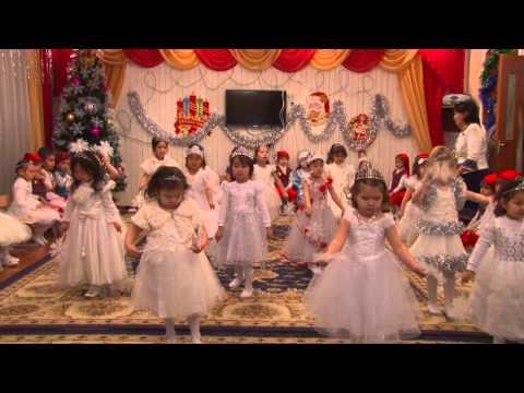 детский сад Бакыт Беловодское танец снежинок