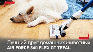 Беспроводной пылесос Air Force Flex Pro от Tefal – лучший друг домашних животных