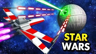 X-WING DESTROYS THE DEATH STAR IN STAR WARS RAVENFIELD (Ravenfield Star Wars Mods Funny Gameplay)