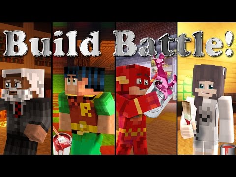 Minecraft Build Battle: The Flash, Steve and Anna Decorate their rooms in the Manor
