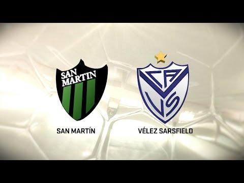 Fútbol en vivo. San Martín SJ vs. Vélez. Fecha 9. Torneo de Primera División 2016/2017. FPT