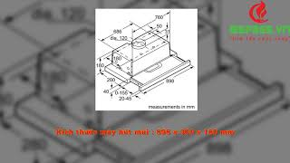 Bếp 365 - Giới thiệu Máy hút mùi Bosch DHI923GSG 90CM