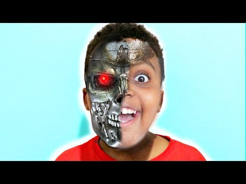 Thumbnail: Shiloh TURNS INTO A ROBOT! - Shasha and Shiloh - Onyx Kids