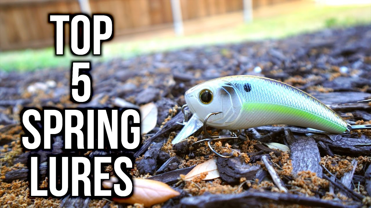 Top 5 Spring Bass Fishing Lures 2017 Youtube