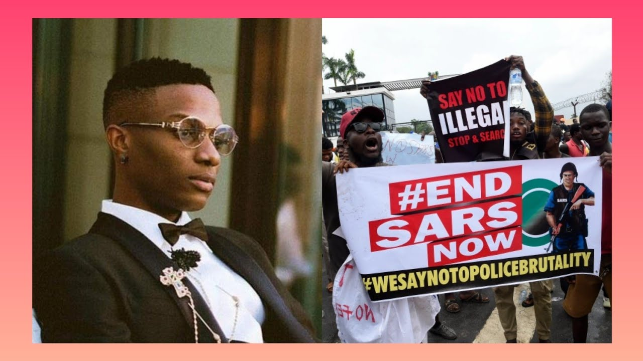 BREAKING NEWS: VIDEO #ENDSARS NIGERIANS IN LONDON AND WIZKID þR♤T£$T P◇L!C€ ßRUT@L!T¥ IN LONDON...
