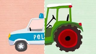 Play Matching Police Car Trucks Firefighters  Fun Kids Games to Play for Children