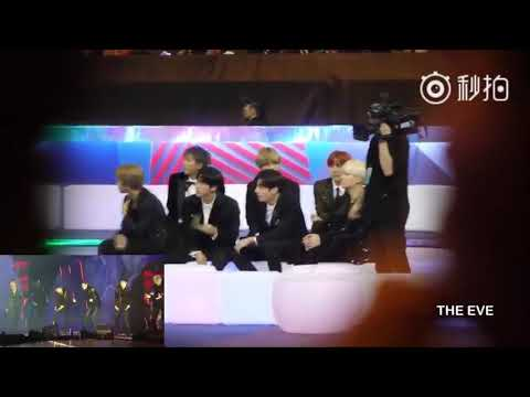 [Fancam] BTS Reaction EXO Live Power & The Eve at MAMA in Hong Kong 2017 171201