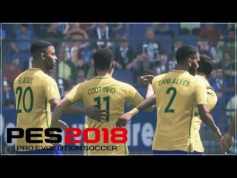 PES 2018 Online Beta: Brazil vs France (Bahasa Indonesia)