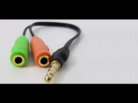 2x Cabo P2 fêmea x 1 P2 macho fone e microfone conjulgado
